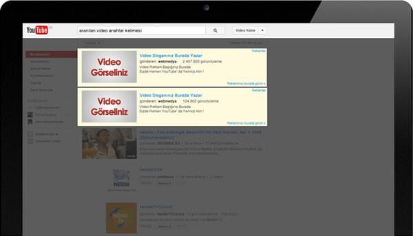 YouTube Arama Sonuçlarında Reklam